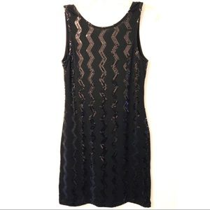 Derek Heart Couture Little Sequin Black mini Dress